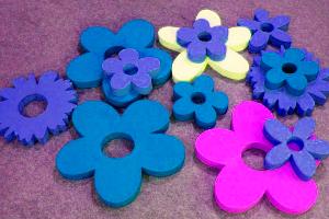 Цветы из пенопласта