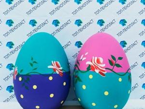 Пасхальные яйца из пенопласта