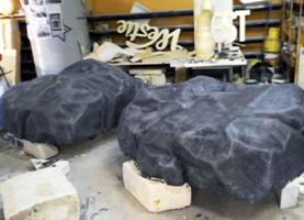 Камни из пенопласта