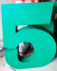 Цифра 5 из пенопласта