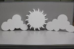 Облака из пенопласта
