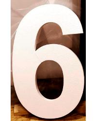 Цифра 6 из пенопласта