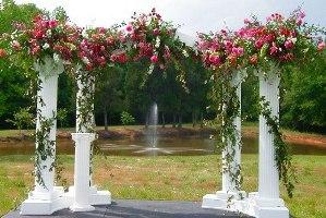 Арка из пенопласта на свадьбу