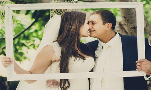 Свадебные рамки из пенопласта