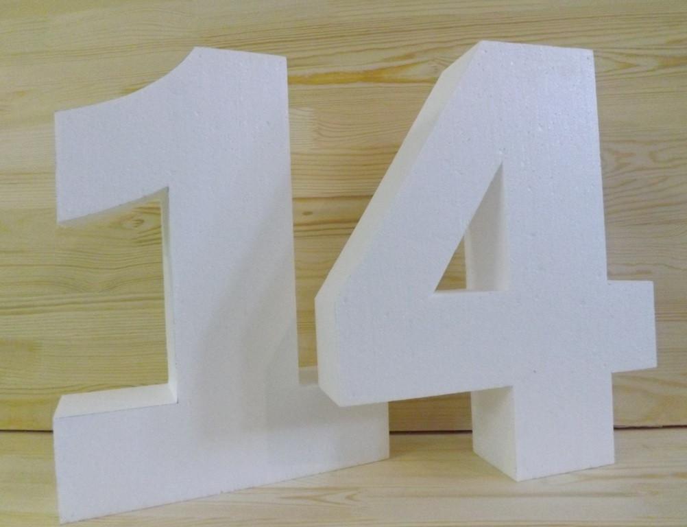 Объемная цифра 4 из пенопласта