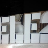 Объемные буквы из пенопласта TELE2