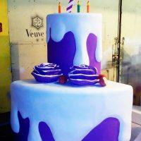 Лиловый торт