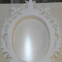 Свадебная рамка, овальная