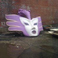 Декоративная цветная маска