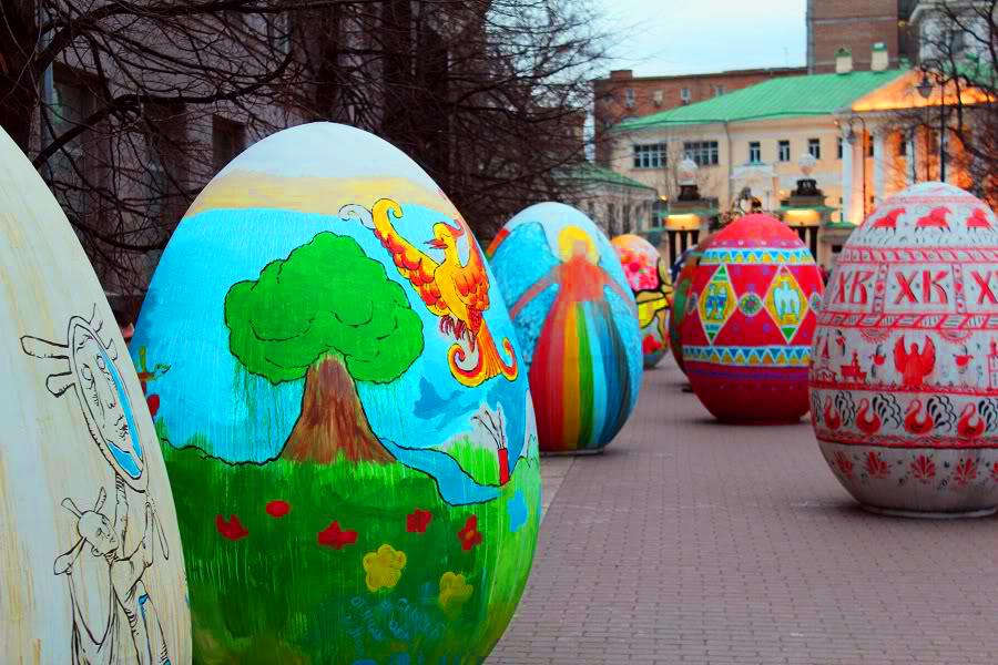 Выставка яиц с росписью