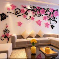Декоративные цветы на стену
