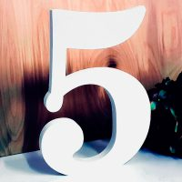 Цифра 5 белая