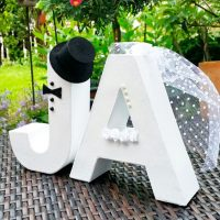 Объемные буквы на свадьбу