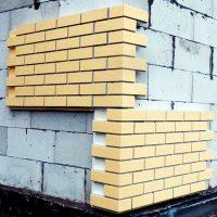 Блок - имитация кирпича