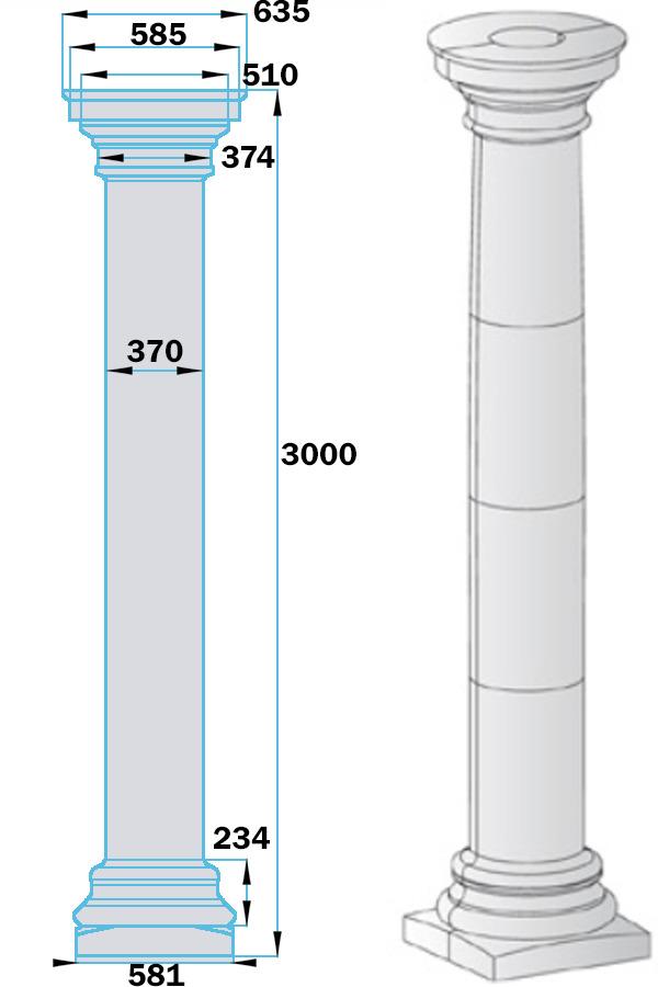 Колонна из пенопласта KOF-004