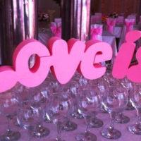 Надпись из пенопласта Love is...