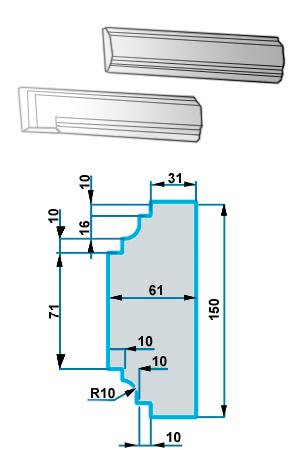 Фасадный Наличник NF-018
