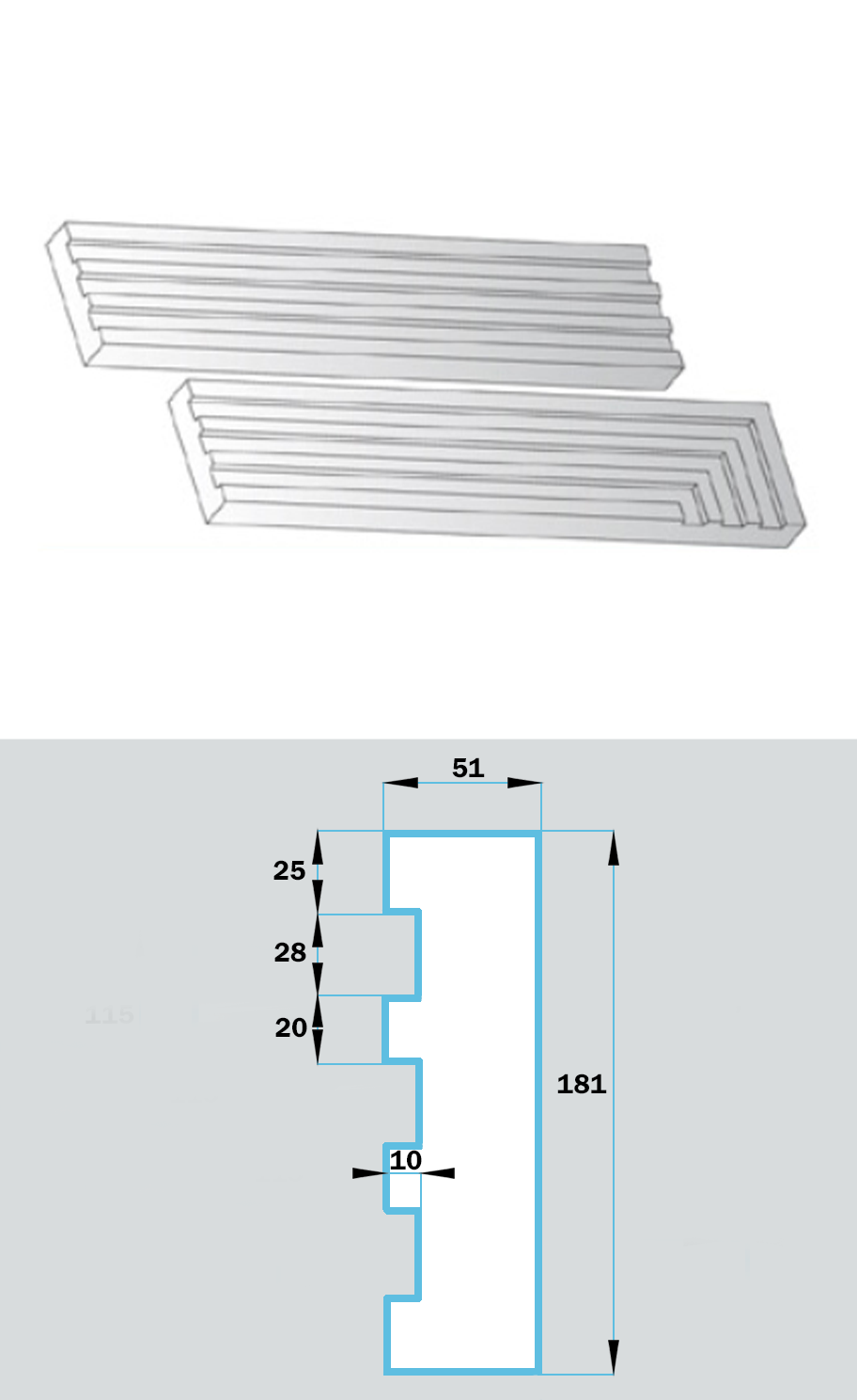 Фасадный Наличник NF-022
