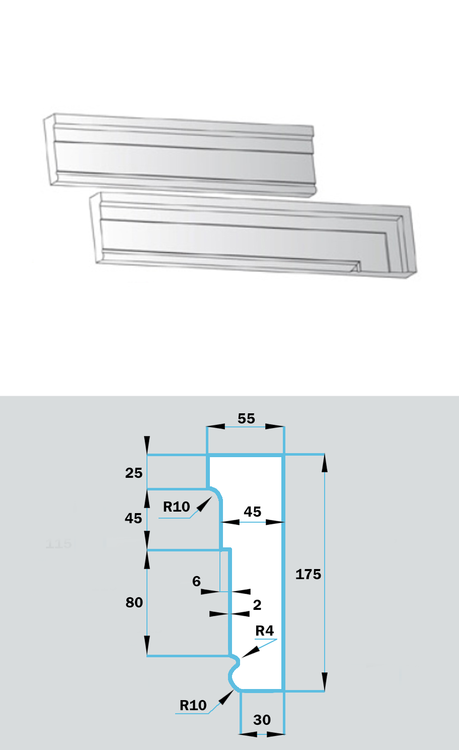 Фасадный Наличник NF-024