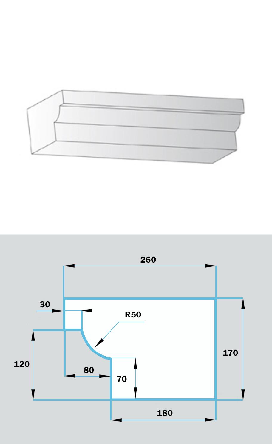 Фасадный Наличник NF-025