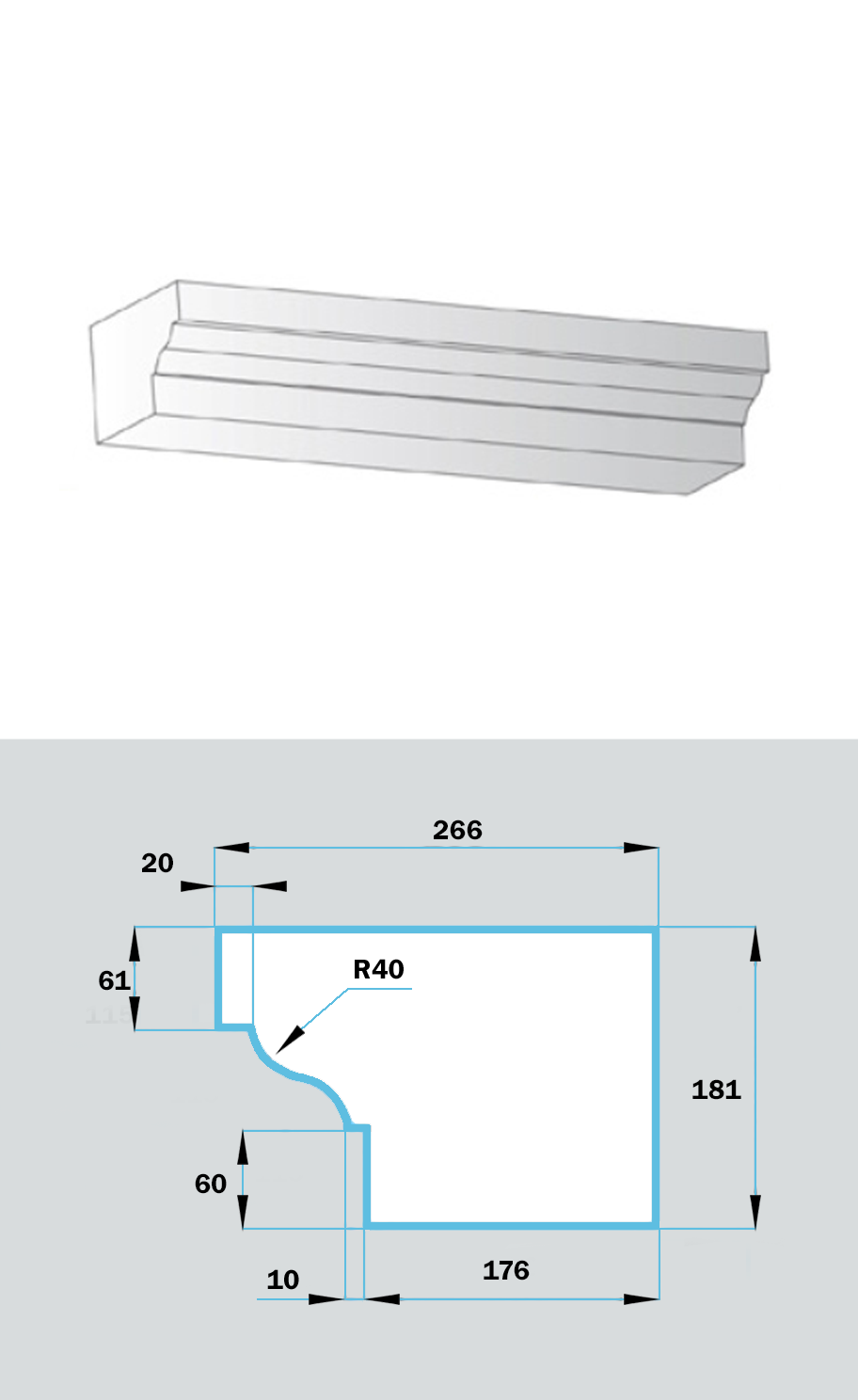 Фасадный Наличник NF-026