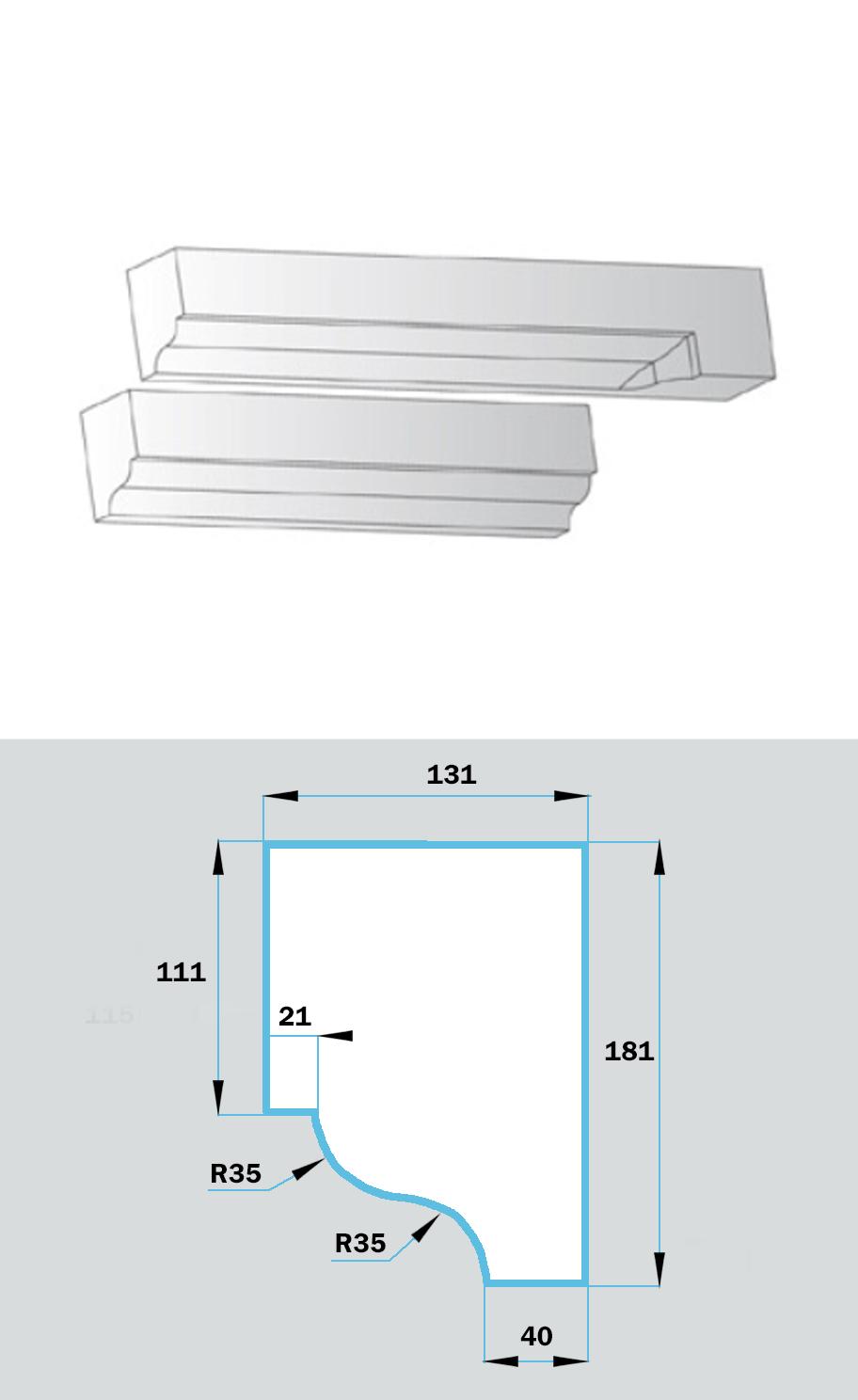 Фасадный Наличник NF-027