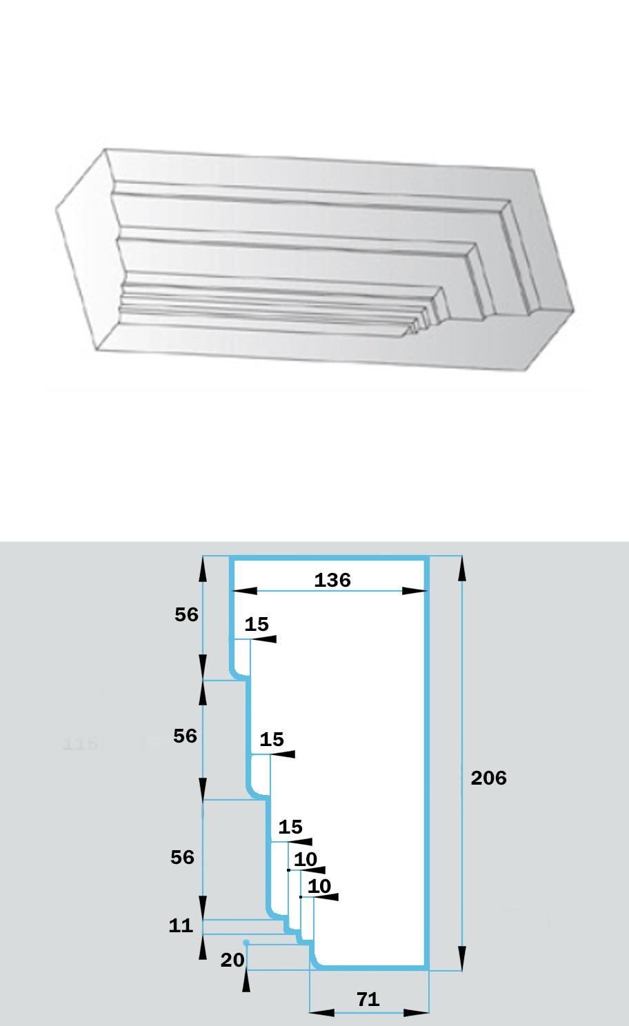 Фасадный Наличник NF-028