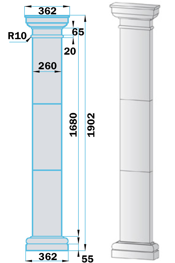 Пилястры из пенопласта PF-001