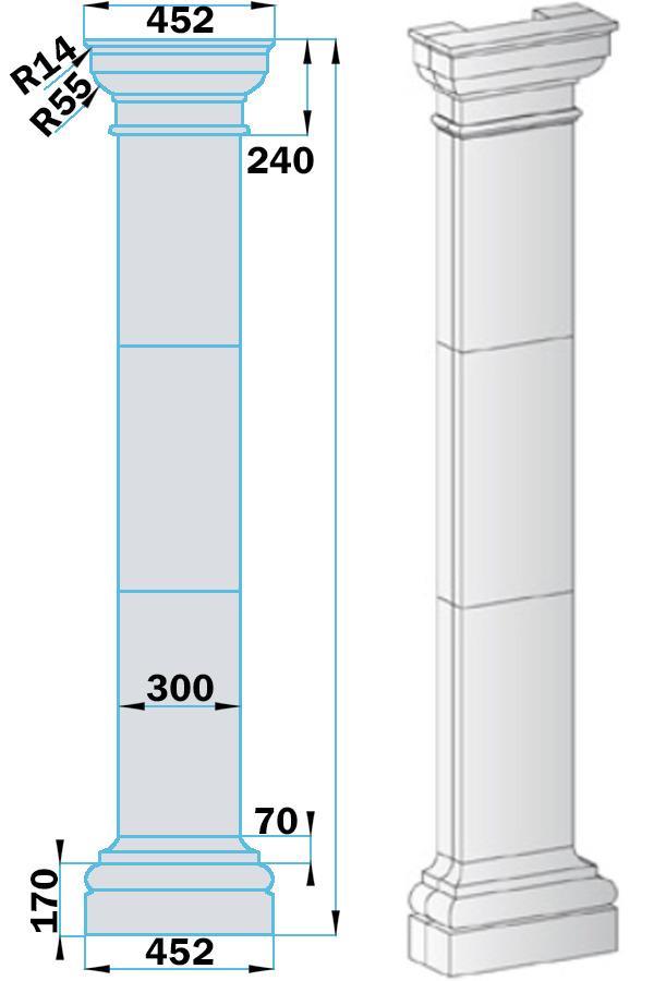 Пилястры из пенопласта PF-003