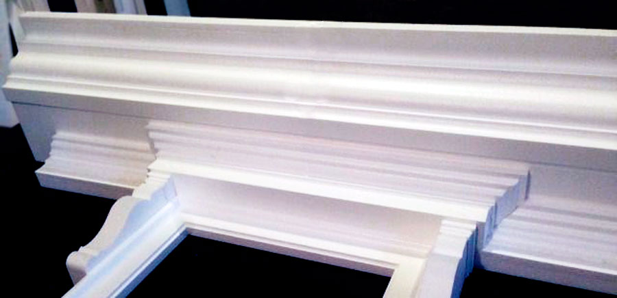 Багет для окна и декоративного камина