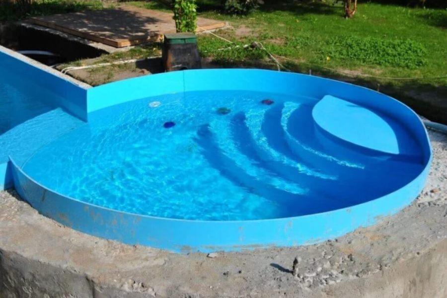 Бассейн из полипропилена круглый
