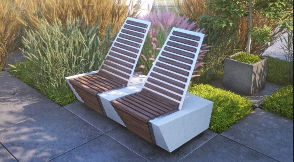 Садовые кресла из архитектурного бетона