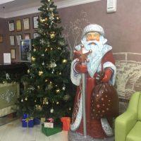 Дед Мороз из пенопласта