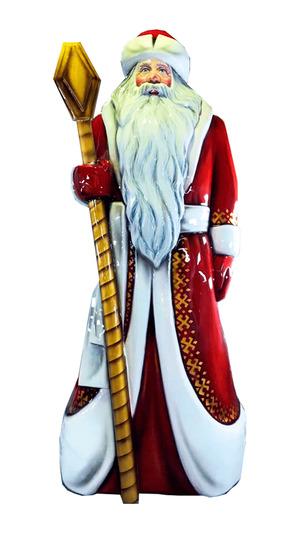 Дед Мороз из пенопласта с посохом