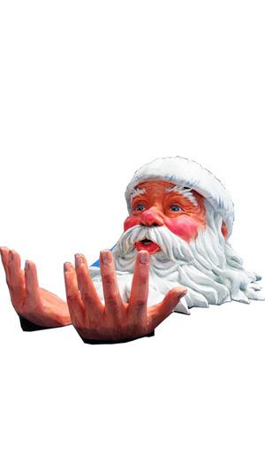 Голова Деда Мороза из пенопласта