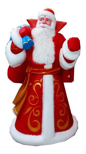 Дед Мороз из пенопласта с мешком