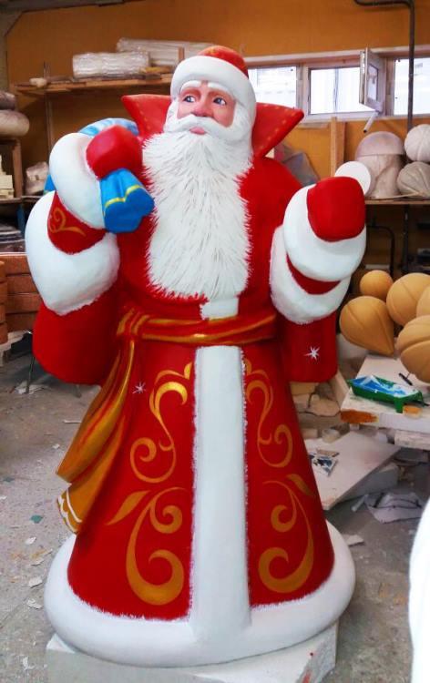 Дед Мороз с синим мешком