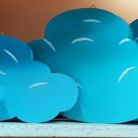 Декорации из пенопласта. Много облаков