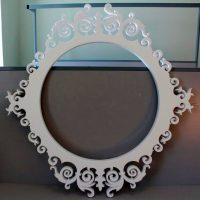 Свадебная рамка из пенопласта круглая