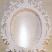 Свадебная рамка из пенопласта овальная