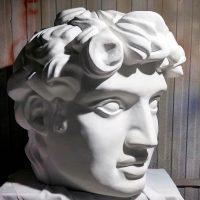 Декорации из пенопласта. Античная голова