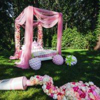 Декорации из пенопласта. Свадебная арка