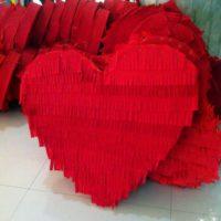 Декоративное сердце из пенопласта