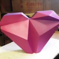Фигурное (полигональное) сердце