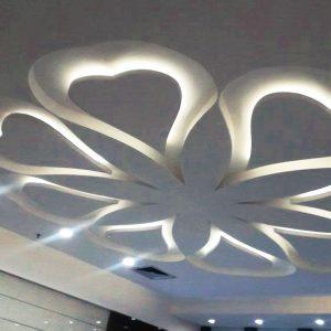 Декорация потолка с подсветкой