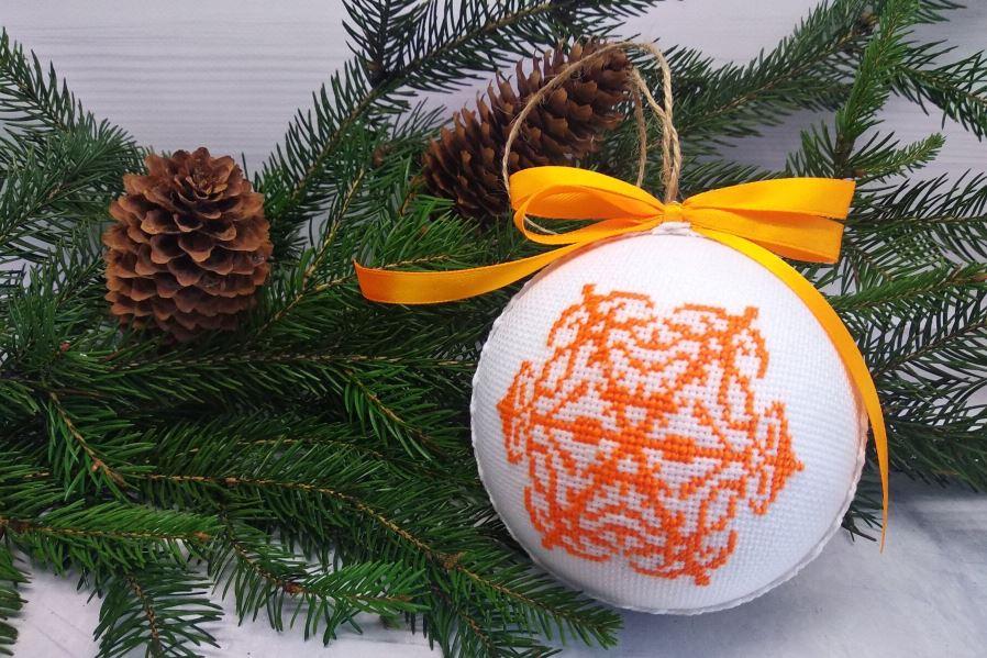 Как покрасить пенопластовый шар на Новый год