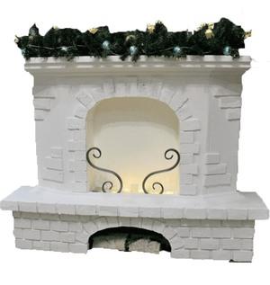 Камин декоративный из пенопласта