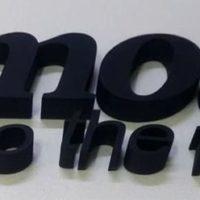 Надпись из пенопласта la moda