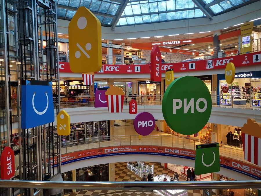 Пенопластовые элементы оформления торгового центра