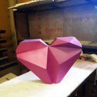 Сердечко полигональное